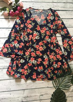 Цветочное платье большой размер anthology