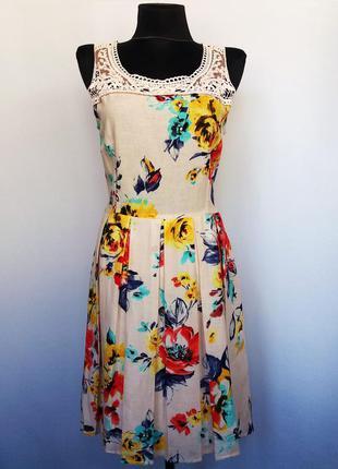Суперцена. стильное летнее платье, лен. турция. новое, р. 44-46