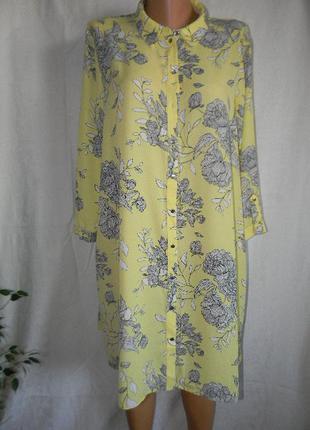 Платье рубашка большого размера f&f