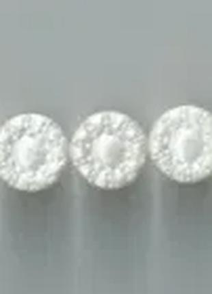 Винтажная пуговица белая