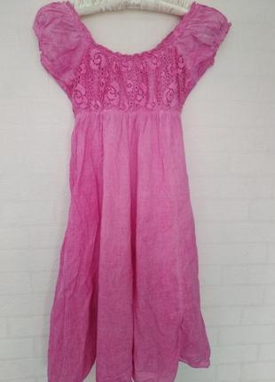 Класное розовое итальянское платье