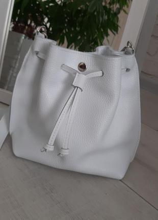 Кожаная сумочка сумка мешок