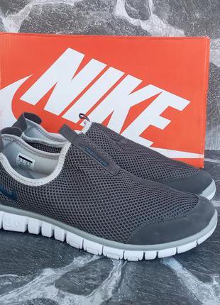 Мужские кроссовки nike free run 3.0 сетка,серые,летние