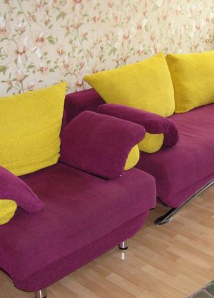 ДИВАН И КРЕСЛО (комплект мебели для гостиной)