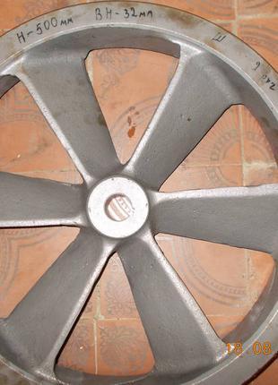 Шкив 2х ручейковый н500мм вн32мм на компресор