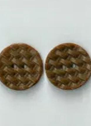 Пуговица плетеная коричневая