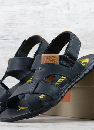 Мужские летние кожаные повседневные босоножки сандалии трансфо...