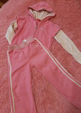 Спортивный костюм прогулочный костюм девочке розовый оригинал ...