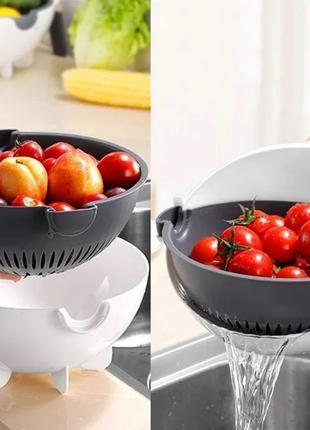 Tерка-овощерезка с контейнером Basket Vegetable Cutter 5 in 1