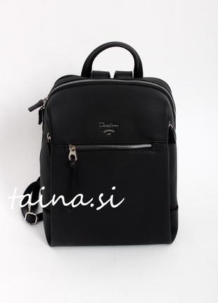 Базовый черный городской рюкзак david jones cm5343 black