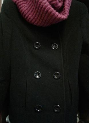 Пальто черное короткое весеннее- распродажа гардероба ---посмотри