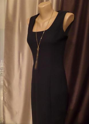 Черное платье сарафан миди