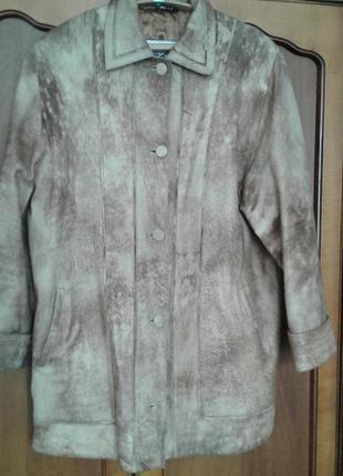 Куртка шкіряна - розмір 54-56