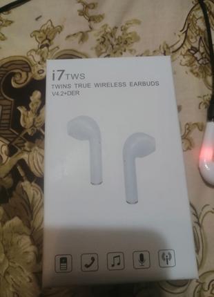 Беспроводные Bluetooth наушники Apple HBQ-i7, наушники Bluetooth