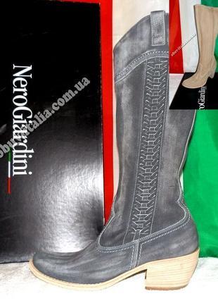 Сапоги женские кожаные фирмы Nero Giardini Италия оригинал