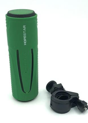 Колонка велосипедная Bluetooth HOPESTAR P3 Green