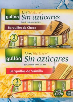 """Вафли без сахара Gullon """"Diet Nature Gullon, Испания для диеты"""