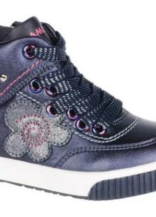 Демисезонные кожаные ботинки фламинго