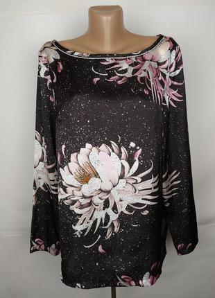 Блуза стильная легкая в цветы next uk 12/40/m