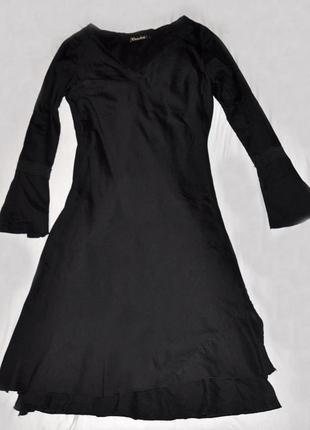 Легкое хлопковое черное платье crocker