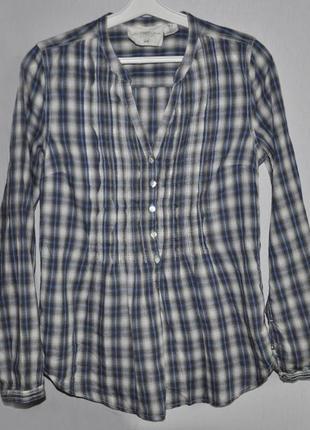 Блуза-рубашка в клетку