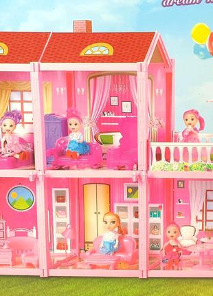 Игровой набор Вилла с куклой 5 комнат для девочек 111 единиц