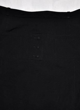 Черная деловая юбка, дизайнерская юбка