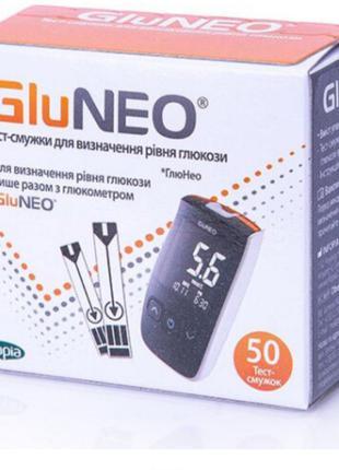 Тест-полоски для определения уровня глюкозы в крови GluNeo 50 шт.