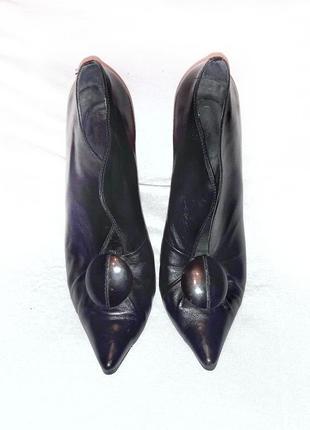 Черные ботильоны туфли rosstyle