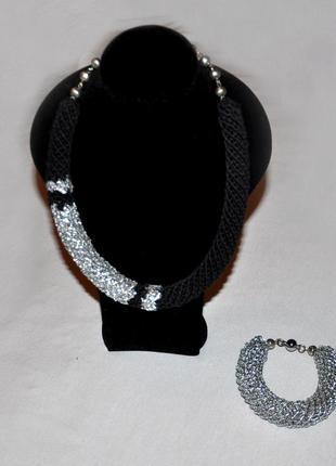 Комплект украшений - колье и браслет