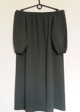 В наличии - оливковое платье на плечи/с открытыми плечами, рук...