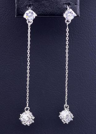 Серьги 'xuping' фианит (родий) 0905850