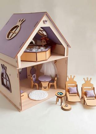 Домик для кукол до 15 см Lol, Лол кукольный дом/ляльковий будинок