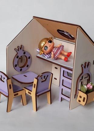 Домик для кукол до 12 см Lol Лол кукольный дом ляльковий будинок