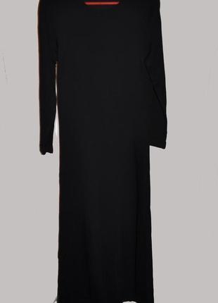Черное платье в пол из плотного трикотажа