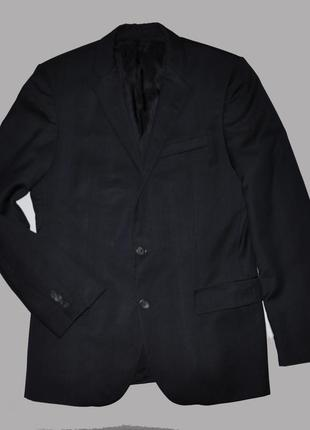 Темно-синий шерстяной пиджак