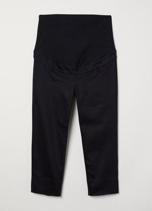 Черные повседневные брюки капри для беременных