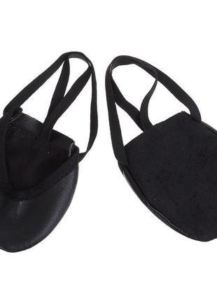 Получешки черные кожаные для танцев, балета, гимнастики