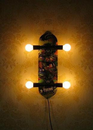 Детский светильник из Скейта, ночник, бра., Киев