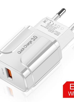 Быстрая зарядка 3.0 4.0 Usb зарядное устройство 18Вт 3А