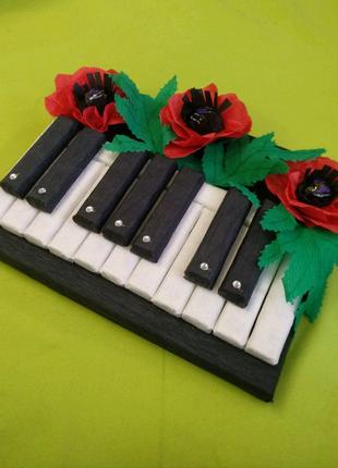 Піаніно з цукерок