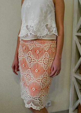Летняя вязаная юбка м