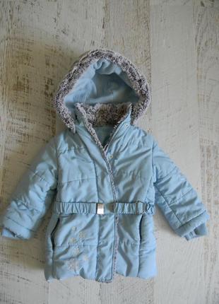 Утепленная куртка для девочки 4-5 лет