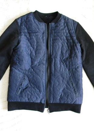 Бомбер куртка толстовка на меху 14-16лет
