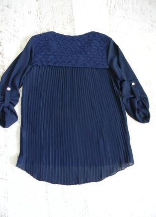 Стильная рубашка блузка плиссе гофре s m
