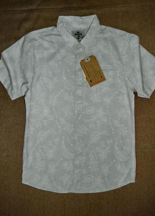 Летняя тонкая хлопковая мужская рубашка bellfield