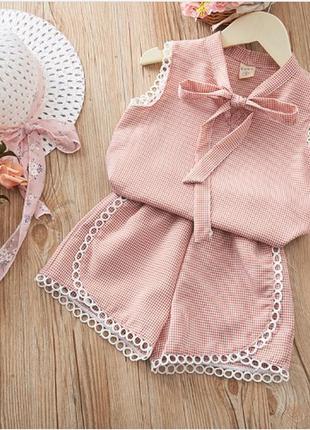 Милейший летний костюм шорты блуза девочке