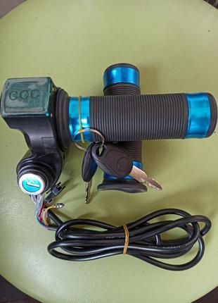 Ручка газа для электровелосипеда с индикатором напряжения