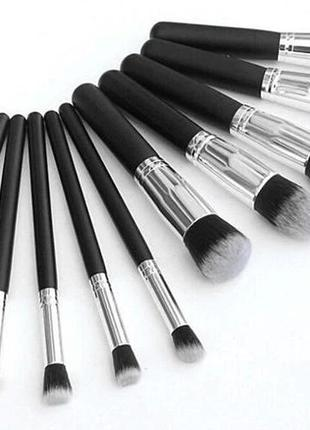 Профессиональный набор из 10 кистей для макияжа