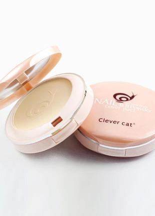 Компактная двойная пудра clever cat